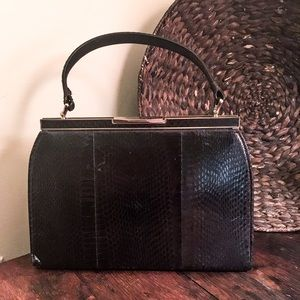 Vintage Genuine Snakeskin Handbag